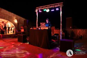 sonido e iluminación cabina dj